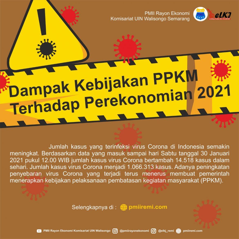 Dampak Kebijakan PPKM terhadap Perekonomian 2021