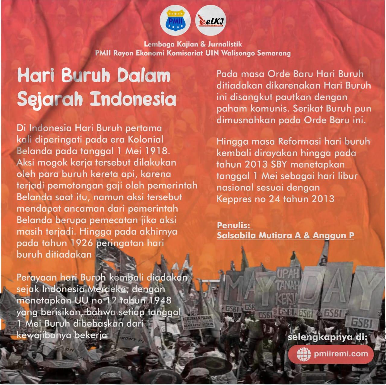 Hari Buruh Dalam Sejarah Indonesia