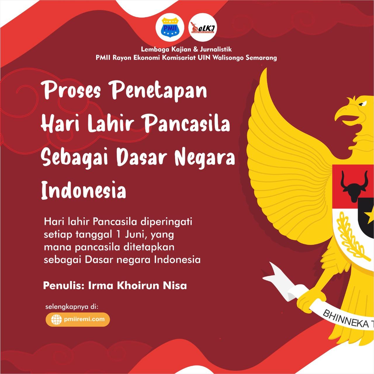 Proses Penetapan Hari Lahir Pancasila sebagai Dasar Negara Indonesia
